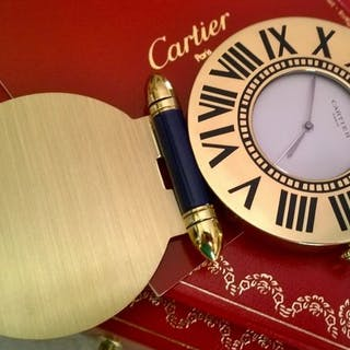 Reisewecker - Cartier Paris Quartz Swiss Made- Vergoldet - 2000