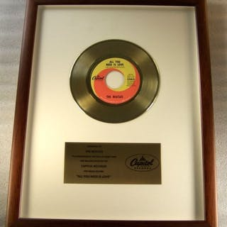 "Beatles - ""All You Need Is Love"" 45 RPM Gold Record Award..."