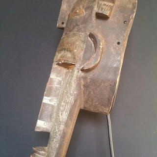 Initiation mask (1) - wood and metal - masque - Bambaras - Mali
