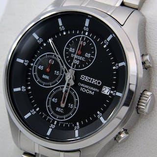 """Seiko - Chronograph """"Black Dial"""" 100M - - """"NO RESERVE..."""