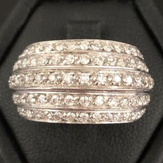 18 kt. White gold - Ring - 1.50 ct Diamond