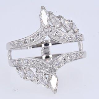 White gold - Ring - 1.42 ct Diamond