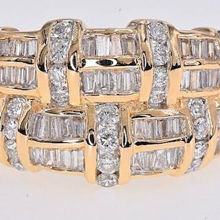 Yellow gold - Ring - 1.86 ct Diamond