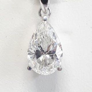18 kt. White gold - Pendant - 1.51 ct Diamond