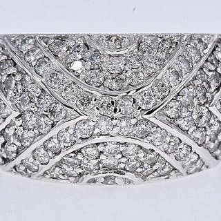 18 kt. White gold - Ring - 1.09 ct Diamond