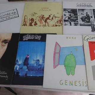 Genesis & Related - Nice Lot with 8 records of Genesis...