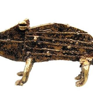 Caméléon  (1) - Bronze africain - Lobi - Côte d'Ivoire