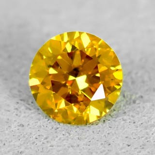 Diamond - 0.25 ct - Brilliant - Natural Fancy Vivid...