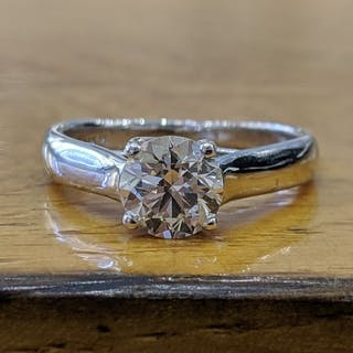 VS2 - 14 kt. White gold - Ring - 1.01 ct Diamond - Diamonds
