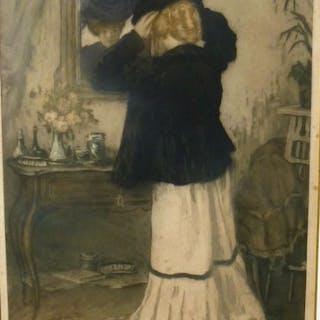 Manuel Robbe (1872-1936) - Elégante devant la glace