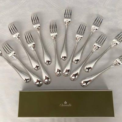 Fourchettes à dîner  (12) - Métal argenté - Christofle...