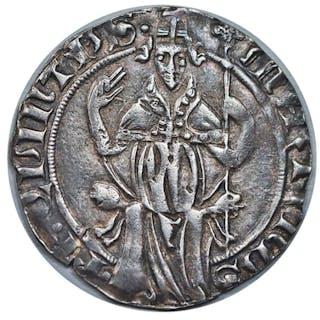 Italia - Papato di Avignone  Carlino Papa Martino V - (1417 - 1431) - Argento