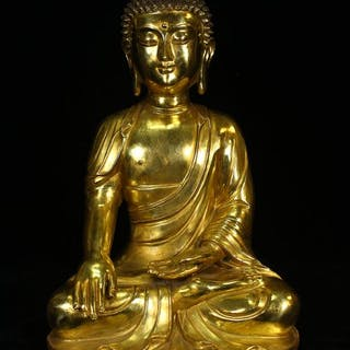 Shakyamuni - Bronze - China - Late 20th century