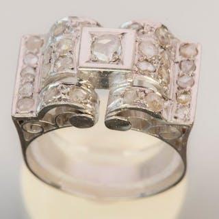 18 kt. White gold - Ring - Diamond