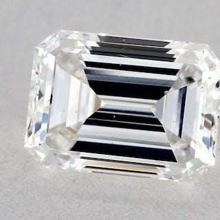 1 pcs Diamond - 0.71 ct - Emerald - E - SI1
