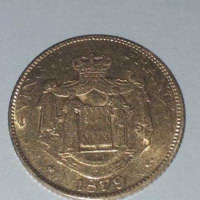 Monaco - 20 Francs 1879-A Charles III  - Or