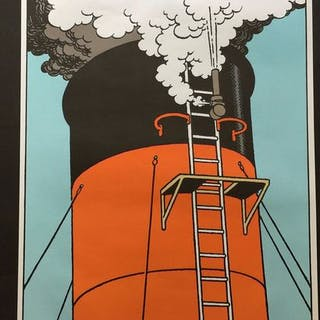 Tintin - Affiche lithographique 'TOOOT'- (1980)