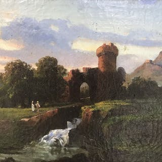 Raimondo Scoppa (1820-1890) - Paesaggio 1863