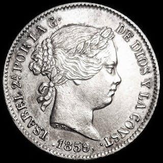 Spain - 1 Real1859/7 - Isabel II