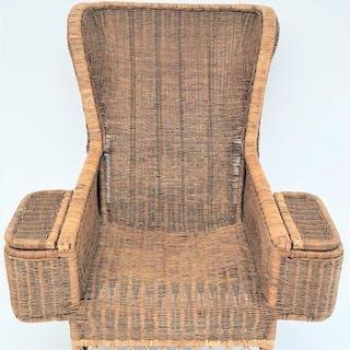 Vintage Rattan Lounge Sessel - Zeitgenössisch
