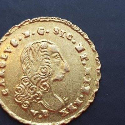 Italia - Regno di Sicilia - Oncia 1752 - Carlo di Borbone  - Oro