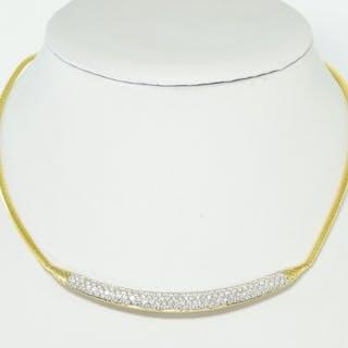 18 kt. Gold - Necklace - 3.60 ct Diamond