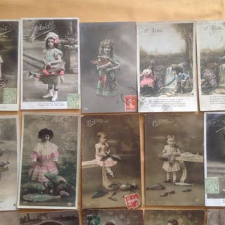 France - Fantasy, Fantasy children - Postcards (Set of 600) - 1905