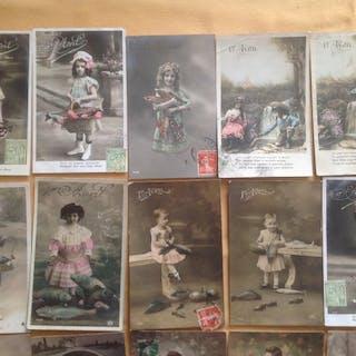 Francia - Fantasy, Bambini fantasia - Cartoline (Set di 600) - 1905