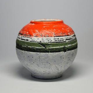Lívia Gorka (1925-2011) - Mid-Century Sphere Vase - Ceramic