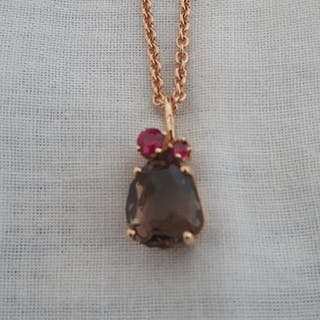 Pomellato Pink gold - Necklace with pendant Ruby