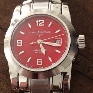 """Girard-Perregaux - Lady """"F"""" Automatic Red Dial- 8039 - Women - 1970-1979"""