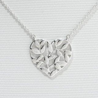 Paloma Picasso Olive Leaf Heart Pendant Silver - Pendant