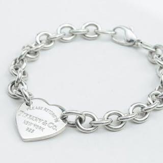 Return to Tiffany Heart Tag Bracelet Silver - Bracelet