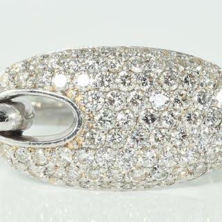 18 kt. White gold - Ring - 1.95 ct Diamonds - VS2/SI1 - F/G - 15.8 grams!