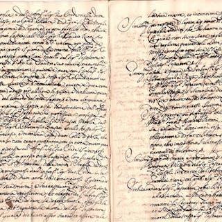 Marc'Antonio Ricci - Manuscript; Testament on his deathbed - 1670