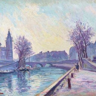 Julien Feron (1864-1944) - Paris, le pont Saint Michel