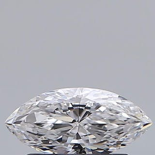 1 pcs Diamond - 0.41 ct - Marquise - D (colourless) - IF (flawless)