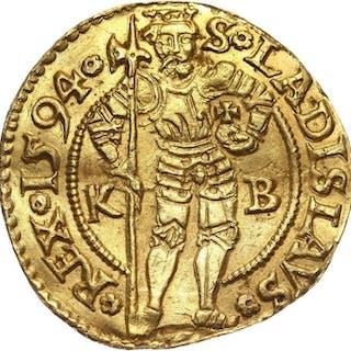 Hungary - 1 Dukat 1594, Kaiser Rudolf II Habsburg, 1552-1612 - Gold
