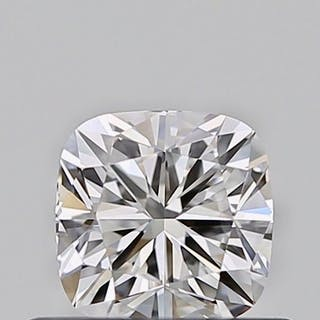 1 pcs Diamond - 0.41 ct - Cushion - D (colourless) - VVS1, EXEX