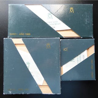 Spain - V Centenario 100 a 10.000 Pesetas- 1989 - Silver
