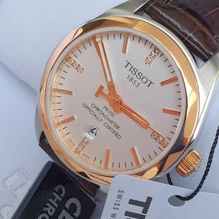 Tissot -Tissot T-Classic PR 100 Rose Gold and stainless...