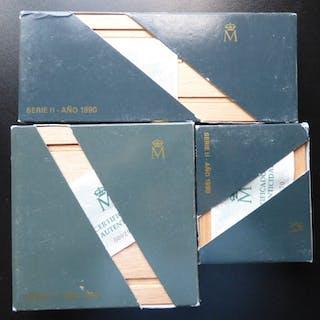 Spain - V Centenario 100 a 10.000 Pesetas- 1990 - Silver