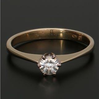 14 kt. Bicolour, Gold - Ring - 0.23 ct Diamond