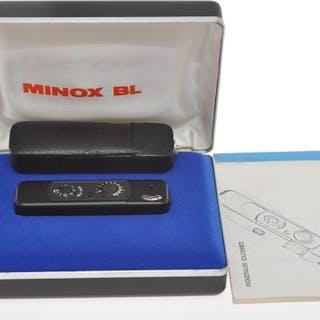 Minox , rare subminiature camera 8x11 Minox BL black with box, exc+++, c.1974
