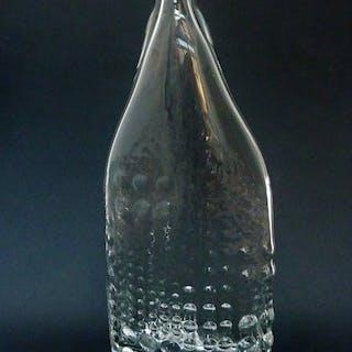 t.a. Tapio Wirkkala- Mid Century Modern Art Glasflaschenvase (1) - Kristall