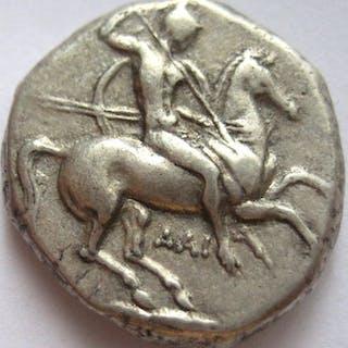 Grecia (antica) - Calabria, Tarentum. AR Nomos  340-335 BC  - Argento