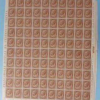 Italien Königreich 1863 - 30 cents chestnut brown DLR...