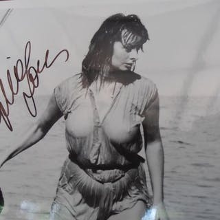 Sophia Loren - Large Official B&W Press Photo - signed with COA