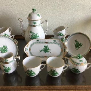 Herend - Coffee service, Apponyi Green (16) - Porcelain