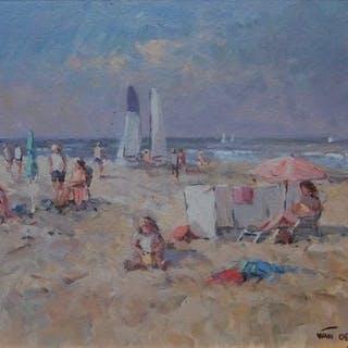 Niek van der Plas- Beach Scene
